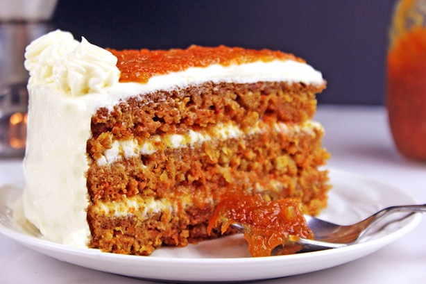 Ultimate Carrot Cake with Carrot Cake Jam Filling