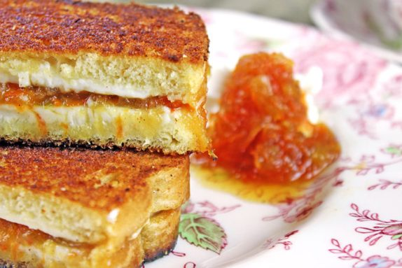 carrot jam grilled cheese sandwich